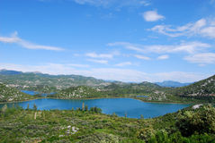 Croatian lake. Panoramic view on lake, Croatia royalty free stock photos