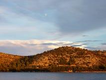 Croatian landscape in evening light Stock Photos