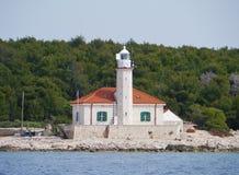 The Croatian lighthouse on cape Razanj Stock Photos