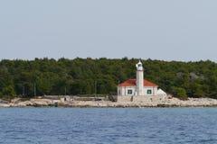 The Croatian lighthouse on cape Razanj Stock Image