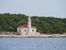 The Croatian lighthouse on cape Razanj Stock Photo