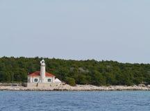 The Croatian lighthouse on cape Razanj Stock Photography
