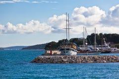 Croatian Marina view Royalty Free Stock Photography