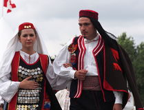 Croatian Models In Tradition Costume Stock Images