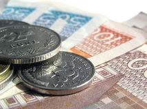 Croatian money 8. Metal and paper money close up Stock Photo