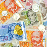 Croatian money square Stock Images
