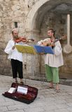 Croatian musicians in traditional clothes Stock Photography