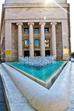 Croatian national bank building and fountain Royalty Free Stock Images