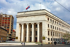 Croatian national bank, Zagreb Stock Image