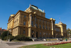 The Croatian National Theater Royalty Free Stock Photo