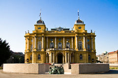 Croatian National Theater Royalty Free Stock Image
