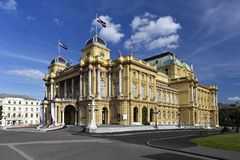 Croatian National Theater Royalty Free Stock Photo