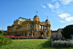 Croatian National Theater building in Zagreb Stock Photography