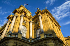Croatian National Theater building in Zagreb Royalty Free Stock Image