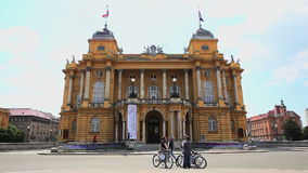 Croatian national theater HNK building stock video
