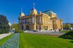 Croatian National Theater on a spring sunny day. Stock Photo