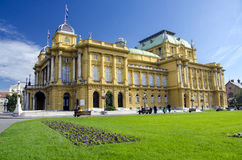 Croatian National Theater, Zagreb Royalty Free Stock Image