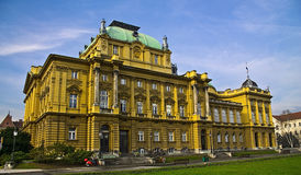 Croatian National Theater. In zagreb Royalty Free Stock Photo