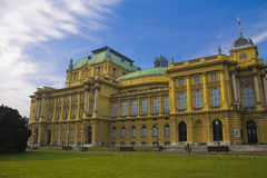 Croatian National Theater. In zagreb Royalty Free Stock Images