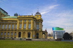 Croatian National Theater. In zagreb Stock Image