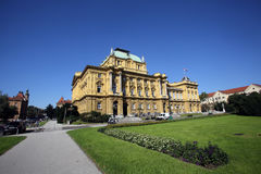 Croatian National Theater in Zagreb Stock Photos