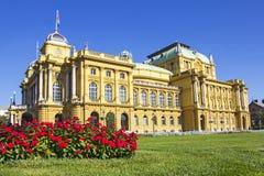 Croatian national theater in Zagreb. Croatia Royalty Free Stock Photo