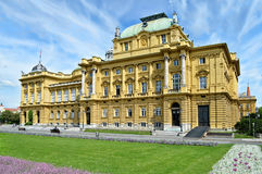 Croatian National Theater, Zagreb, Croatia Stock Photo