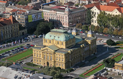 Croatian National Theater, Zagreb Stock Photography