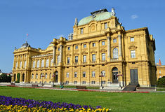 Croatian National Theater in Zagreb, Croatia Royalty Free Stock Image