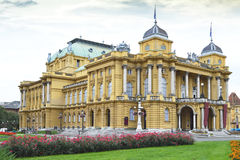 Croatian National Theater, Zagreb, Croatia Royalty Free Stock Photography