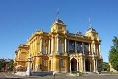 Croatian national theater in Zagreb Stock Photography