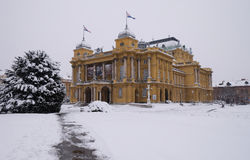 Croatian national theater in Zagreb Royalty Free Stock Photos