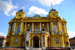 Croatian national theater in zagreb Stock Images
