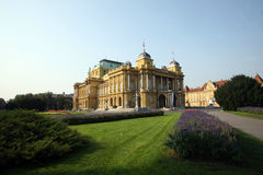 Croatian National Theatre. Zagreb, Croatia Royalty Free Stock Photos