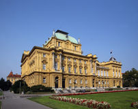 Croatian National Theatre Royalty Free Stock Photo