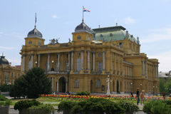 The Croatian National Theatre. In Zagreb- Croatia royalty free stock photography