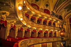 Croatian National Theatre balconies Royalty Free Stock Photography