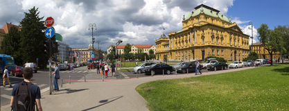 Croatian National Theatre. Building is one of the most popular landmark of Zagrebm capital oF Croatia Stock Photos