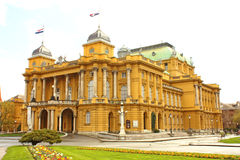 Croatian national theatre in Zagreb Stock Photo