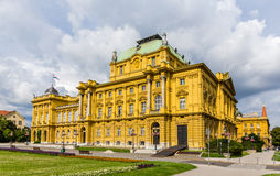 Croatian National Theatre Stock Photography