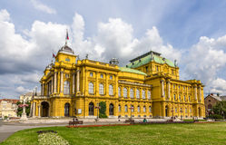 Croatian National Theatre Royalty Free Stock Images