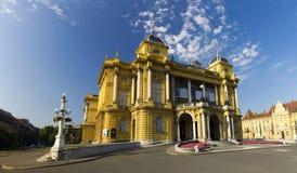 Croatian national theatre in Zagreb. Croatia Royalty Free Stock Photography