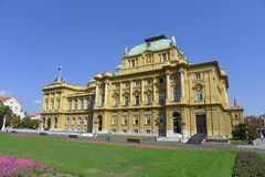 Croatian National Theatre in Zagreb Stock Images