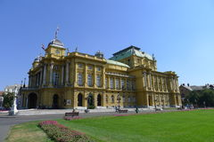 Croatian National Theatre in Zagreb Stock Photography
