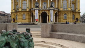 Croatian National Theatre in Zagreb Royalty Free Stock Images