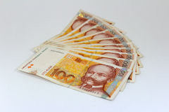 Croatian paper money kuna Stock Photos