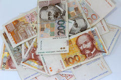 Croatian paper money kuna Stock Photography
