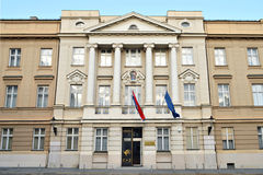 Croatian parliament palace, Zagreb , Croatia Royalty Free Stock Images