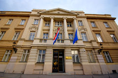 Croatian Parliament, Zagreb Royalty Free Stock Photography