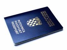 Croatian passport. On a white background royalty free stock photos